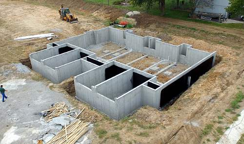 Auburn Alabama concrete foundation poured and completed with waterproofing.