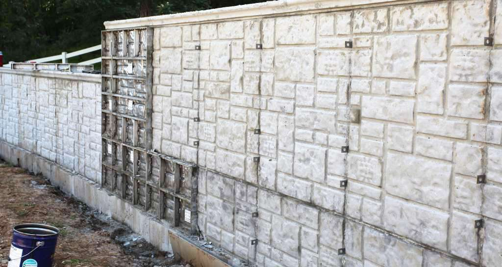 retaining wall ashlar stone pattern